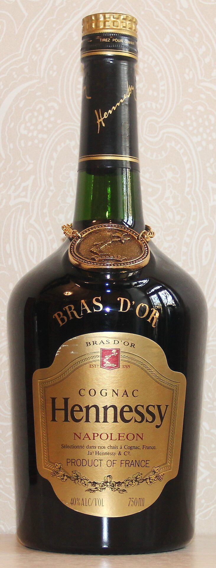 "Hennessy Bras D""Or 0.75L 1970s"